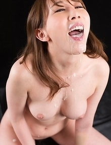 Aya Kisaki Sucks Dick with Cum in Her Mouth